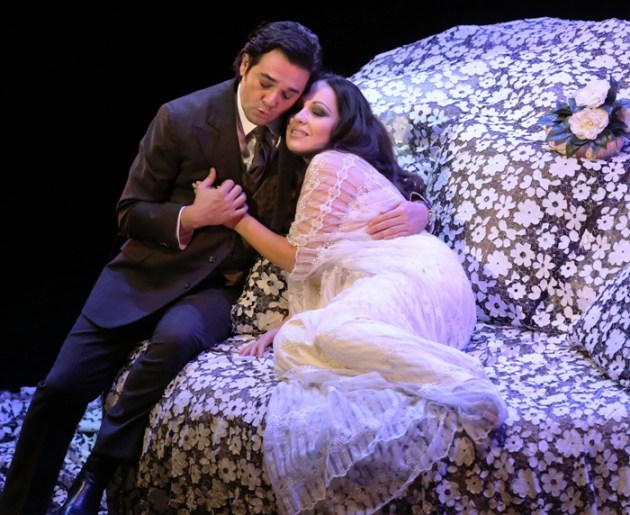 Nino Machaidze (Violetta) & Arturo Chacon-Cruz (Alfredo) in La Traviata
