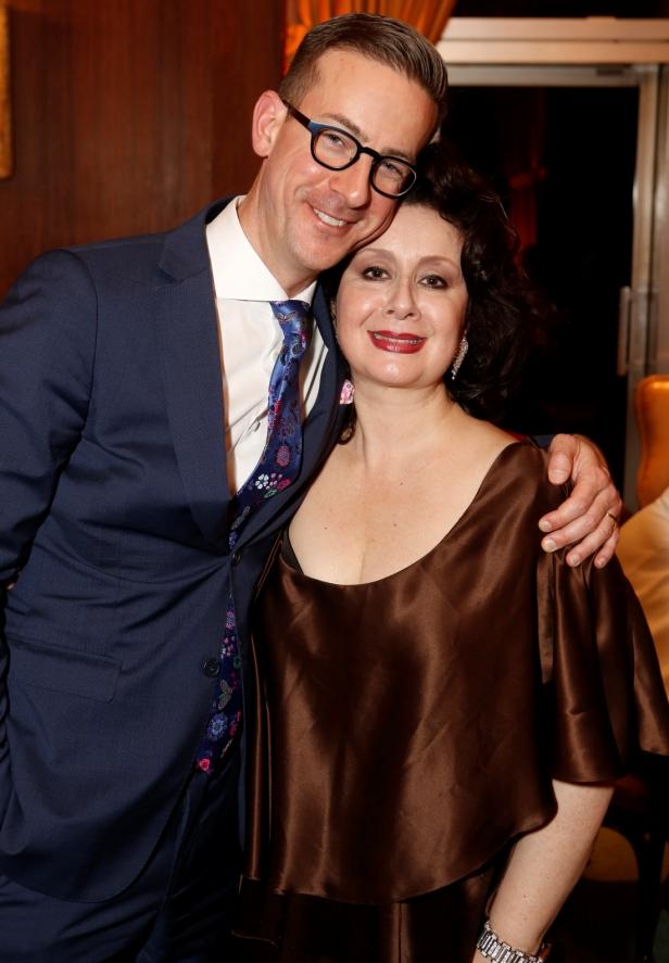Diva Veronia Villarroel with LA Opera President, Christopher Koelsch