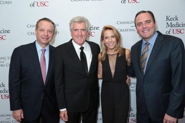 Dean Pualiafito, Luke Zamperini, Sheryl Crowe & Honoree Derrick Hall at USC Urology Event