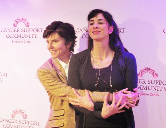 Comics Tig Notaro and Sarah Silverman (photo by Margie Barron)