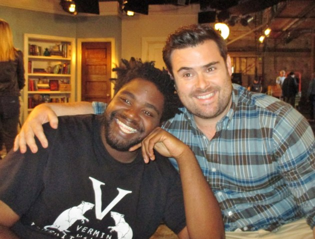 Ron Funches, David Fynn  (photo by Margie Barron)