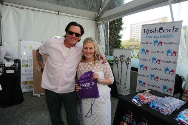 Michael Madsen with Rashoodz kidzwear designer Laura Furiosi