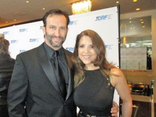 """""""Fear the Walking Dead"""" cutie Kevin Sizemore and wife Gina Lombardi at Imagine Gala (photo: MargieBarron)"""