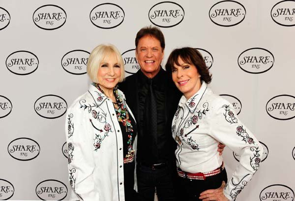 SHARE President Ellen Feder, Rick Dees & September Sarno at Boomtown Show (Photo Credit - SHARE)