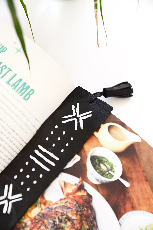 DIY Mudcloth bookmarks