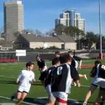 Exercice rugby continuité