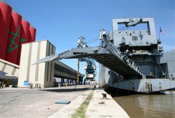 Militares estadounidenses arriban al puerto de Agadir en Abril de 2013. / AFRICOM