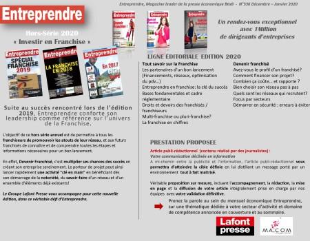 Kit Media Entreprendre - Franchises 2020-2