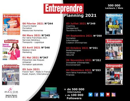 Planning Entreprendre 2021
