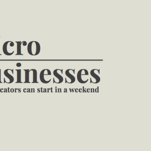Micro-Businesses educators can start in a weekend
