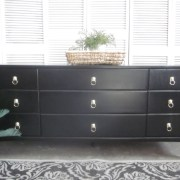 long black lion head dresser