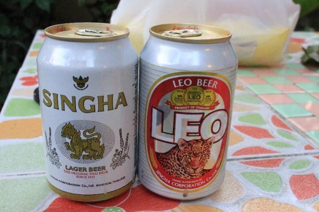 Des bières Thaï très consommées.