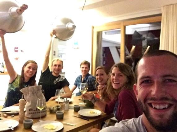 Avec nos amis dans le Valais!