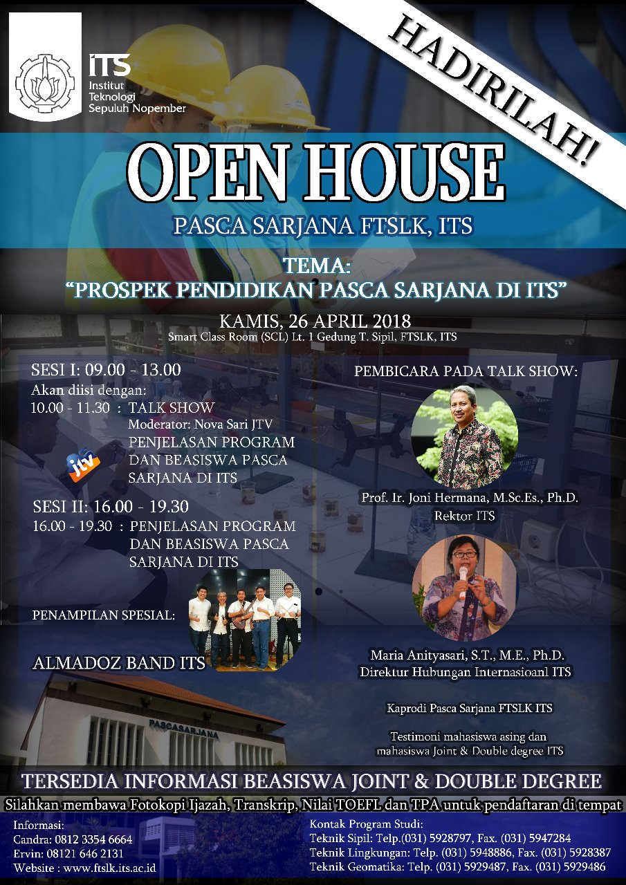 Open House Pascasarjana FTSLK ITS