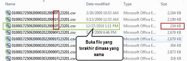 Convert CSV E-SPT 07