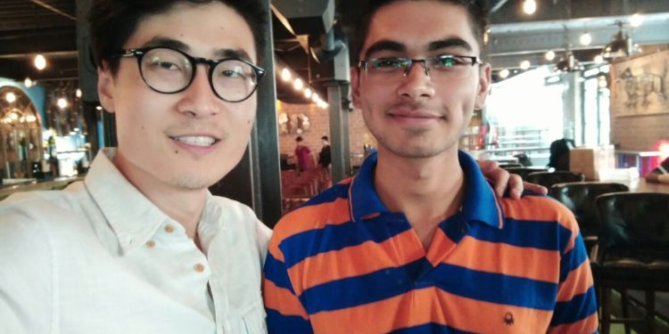 Aakash with Steven Wang OnePlus 3