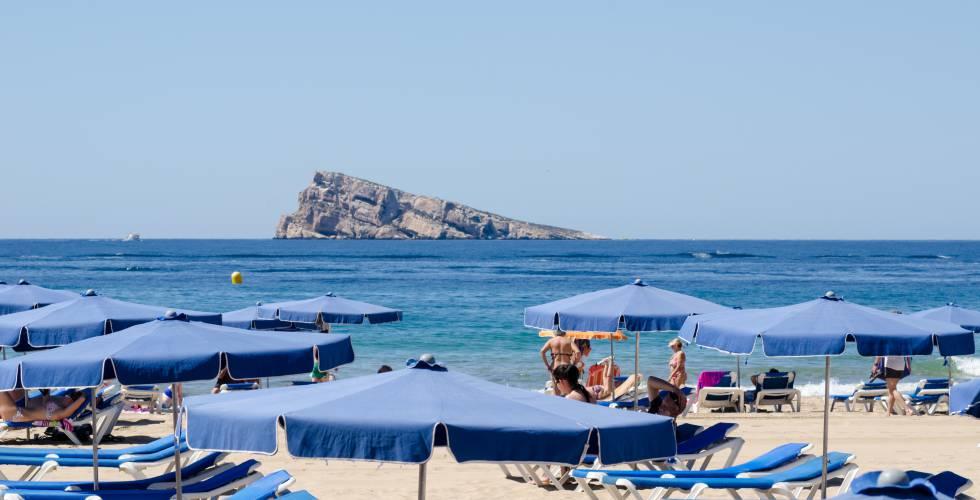Isla de Benidorm, en Alicante.