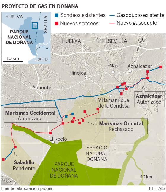 Resultado de imagen de gas natural, parque nacional de doñana, felipe gonzalez