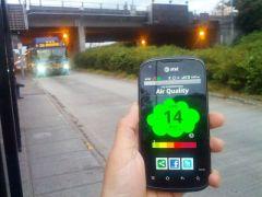 El sistema CitiSense envía los datos de calidad del aire al teléfono móvil. / JACOBS SCHOOL OF ENGINEERING (UC SAN DIEGO)