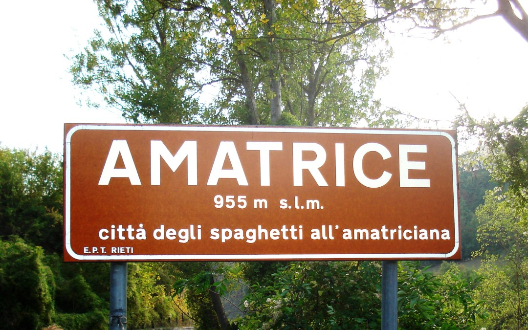 SOS for the Birthplace of Spaghetti all'Amatriciana