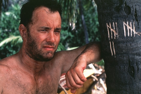 Tom Hanks in Cast Away (© 2000 Twentieth Century Fox and Dreamworks LLC. All Rights Reserved)