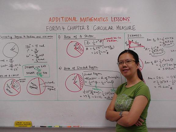 Miss Ng - SPM Add Maths and SPM Physics Tutor
