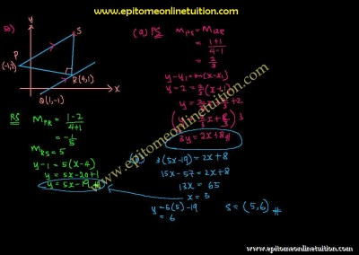 Chapter 6 – Coordinate Geometry