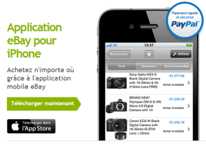 Application eBay pour iPhone