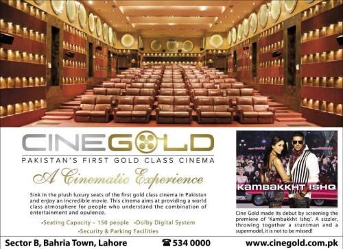 Cine Gold Cinema Bahria Town Lahore