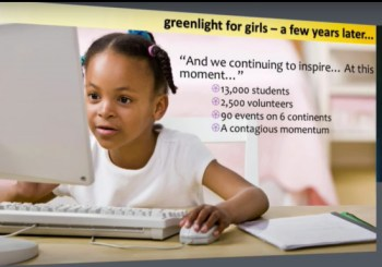 """""""Greenlight for Girls"""": encouraging girls to love science, math, engineering and technology"""