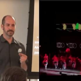 Thomas Logan presents at A11yNYC in July of 2017