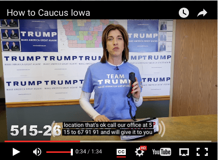 """Screenshot of captions that say """"location that's ok call our office at 5 15 to 67 91 91 and will give it to you"""". The phone number onscreen is 515-267-9191."""