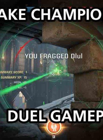 Quake Champions Duel Mode Gameplay