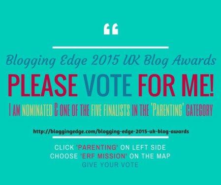 I am humbled beyond measure! Finalist Blogging Edge 2015 UK Blog Awards!