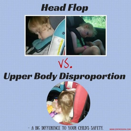 Head Flop vs. Upper Body Disproportion – a big difference to your child's safety.