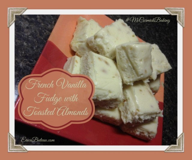 French Vanilla Fudge with Toasted Almonds