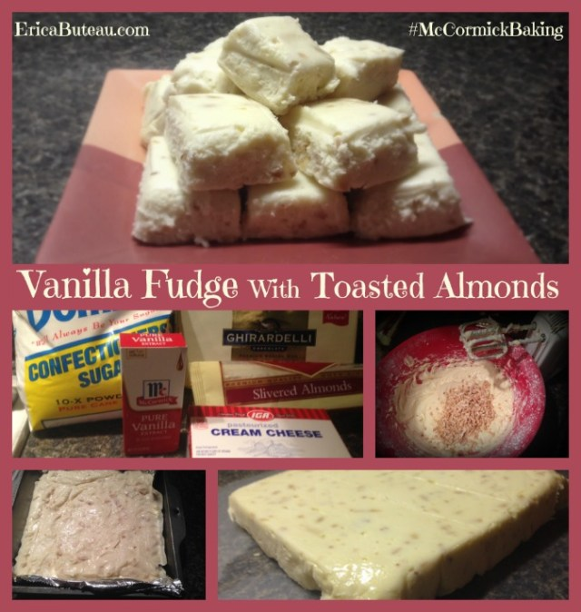 vanilla fudge with toasted almonds