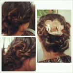 Triple Twist Updo with Twist Rose