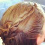 Braided Mini Rosette Waterfall on Kathryn