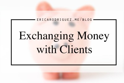 Exchanging money with clients