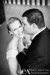 Groom kisses bride on cheek South Lake Tahoe Valhalla Estate