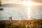 Bride and Groom take a stroll during golden hour. Edgewood South Lake Tahoe