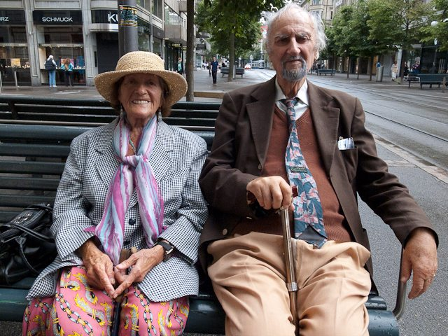 A couple in Zurich, Switzerland. Shot with my Ricoh GRIII