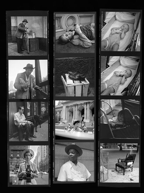 Vivian Maier Contact Sheet / New York. Note how close she got to many subjects while working.