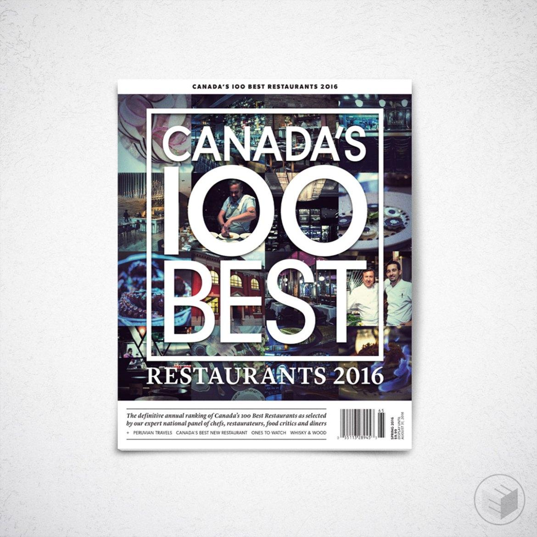 CANADA'S 100 BEST RESTAURANTS 2016 COVER