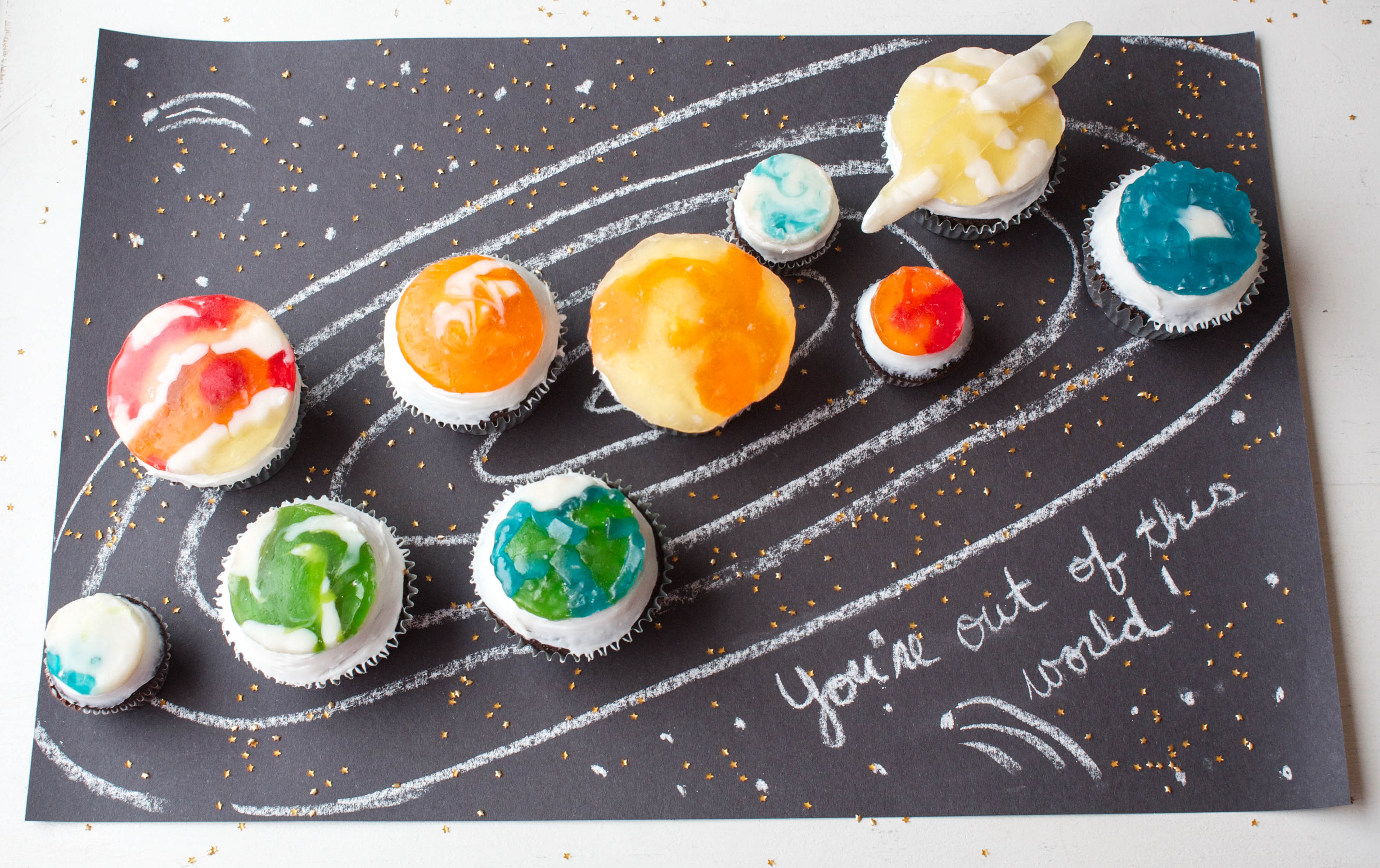 How To Make Gummy Candy Planet Cupcakes Erin Bakes