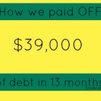 How we paid off $39,000 in debt in 13 months