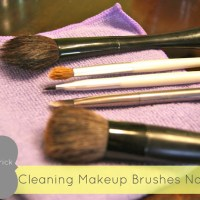 Cleaning your Makeup Brushes Naturally