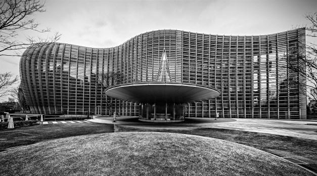 Здание Национального центра искусств, спроектированное Кисё Курокавой