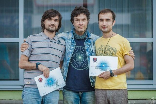 Артур Рахметов, Сергей Куприянов, Александр Попов — после семинара в Уфе